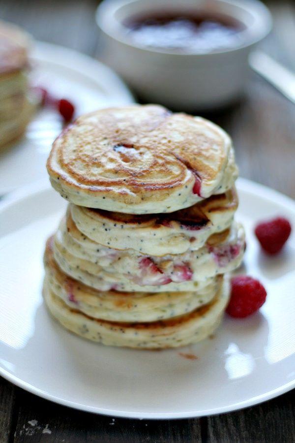 Strawberry Mascarpone Poppy Seed Pancakes | Recipe