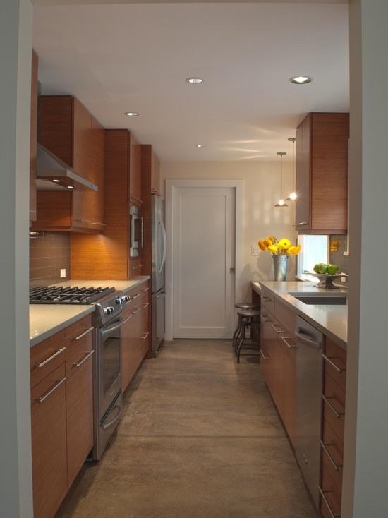 Kitchen Bamboo Cabinets Interiors Pinterest
