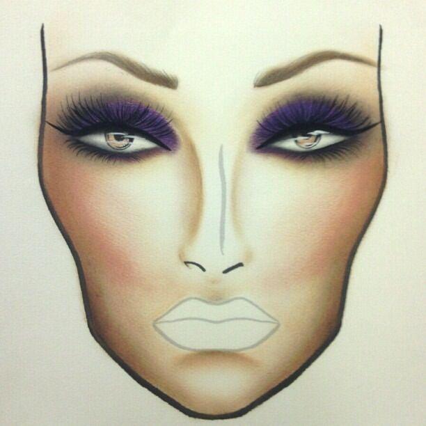 Pin Makeup Face Chart Template On Pinterest