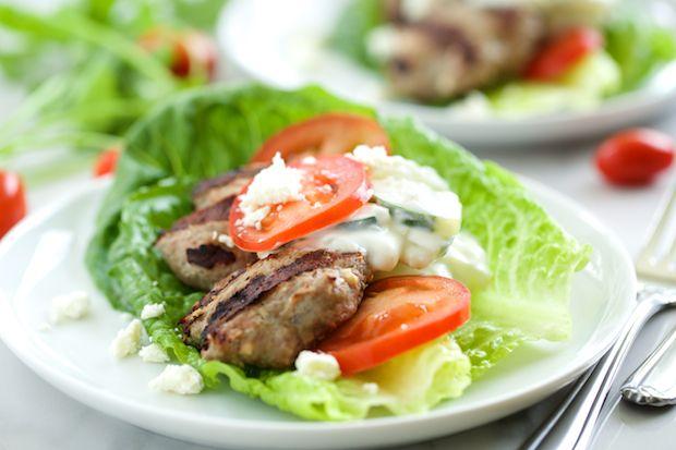 Feta Gyro Burgers with Tzatziki Sauce - minus the feta and tzatziki ...