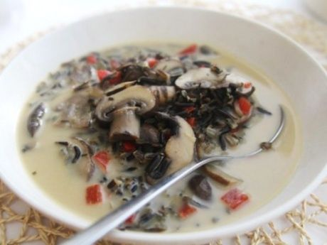 Creamy Wild Rice And Mushroom Soup | Soup | Pinterest