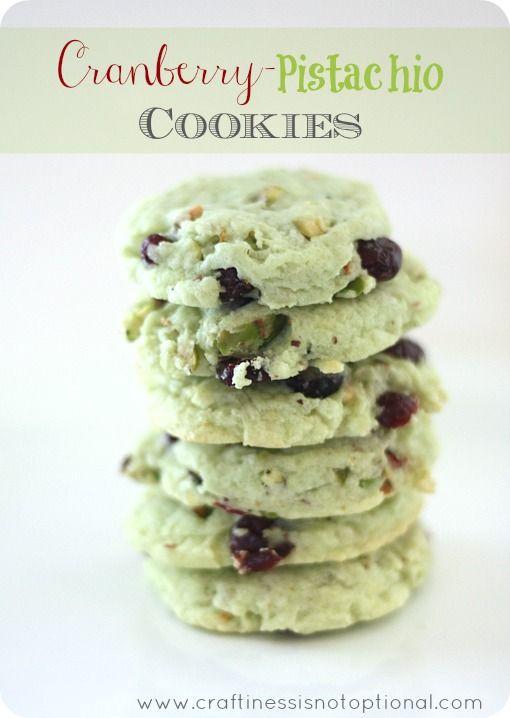 Cranberry-pistachio cookies | Desserts | Pinterest