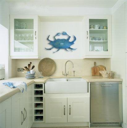 crab coastal kitchen decor house