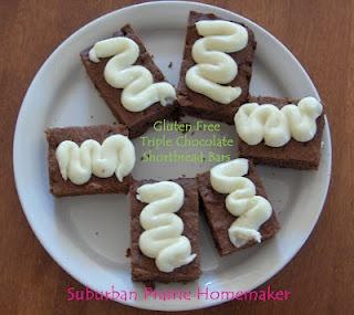 Gluten Free Triple Chocolate Shortbread Bars Recipe