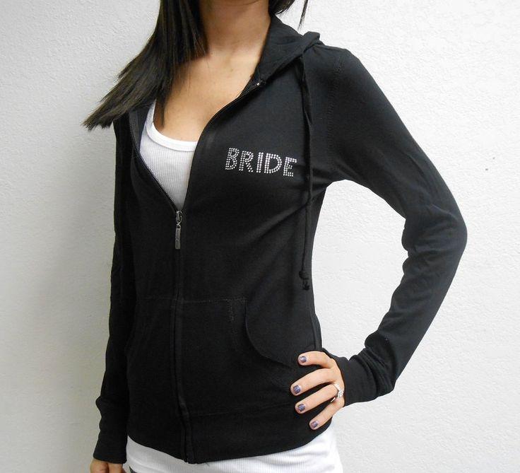 Rhinestone+Bride+Hoodie.+Bride+Zip+Up+Hoodie.+Bride+by+BrideBikini