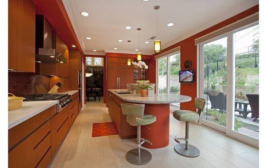 Orange Kitchen Design  Creative Kitchens  Pinterest