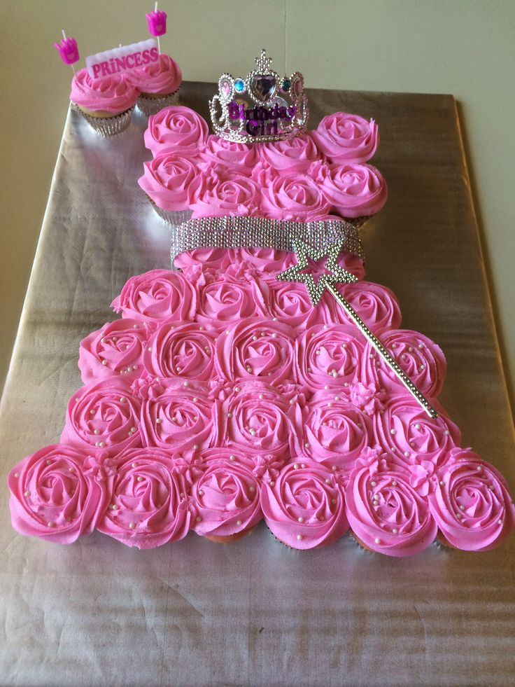 princess cupcake cake dress