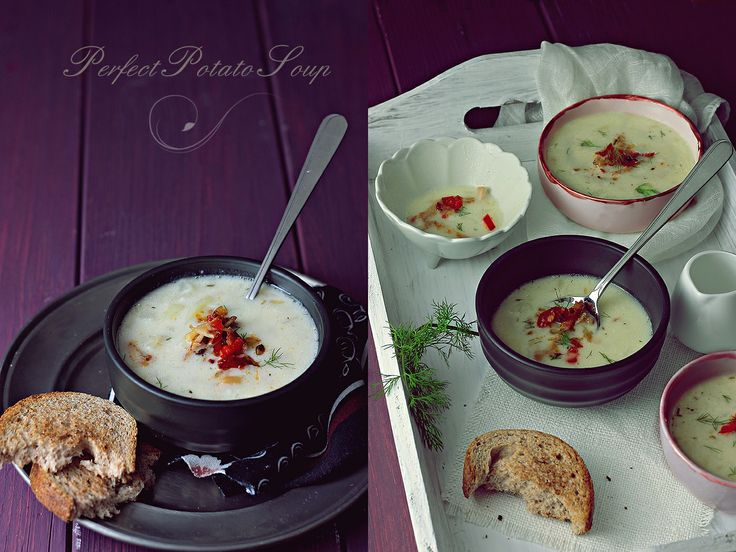 Roasted Garlic Potato Soup | Food | Pinterest