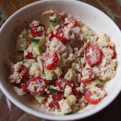 WIAW: Easy, Healthy Crab Salad —