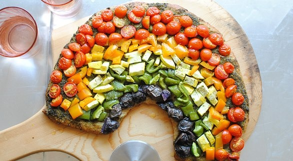 rainbow pizza | Simple Beauty of Food | Pinterest