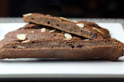 Chocolate Cherry Almond Biscotti | gluten free | Pinterest