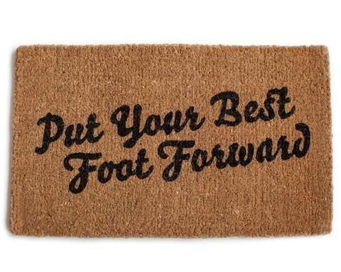 Put Your Best Foot Forward Door Mat / Izola