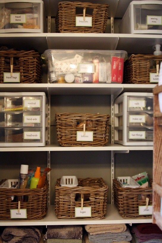 Bathroom Closet Organization Organize Pinterest