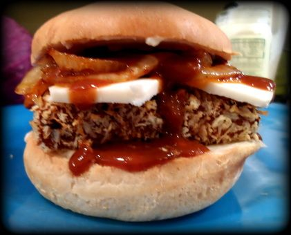 Kristen's Ultimate Barbecued Tofu Sandwich...only uses 8 ingredients ...