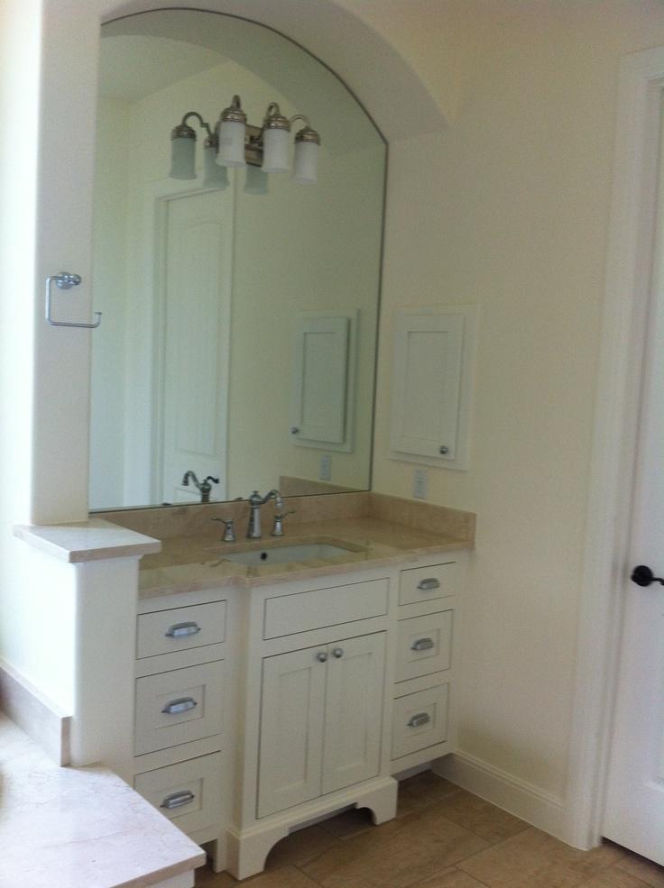 Simple Walnut Double Vanity  Transitional  Bathroom  Lugbill Designs