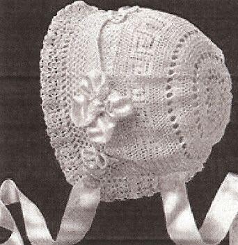 Crochet Thread Baby Bonnet Pattern : Thread Crochet Baby Bonnet Pattern
