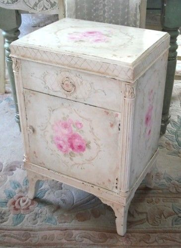 Antique French Roses Cabinet