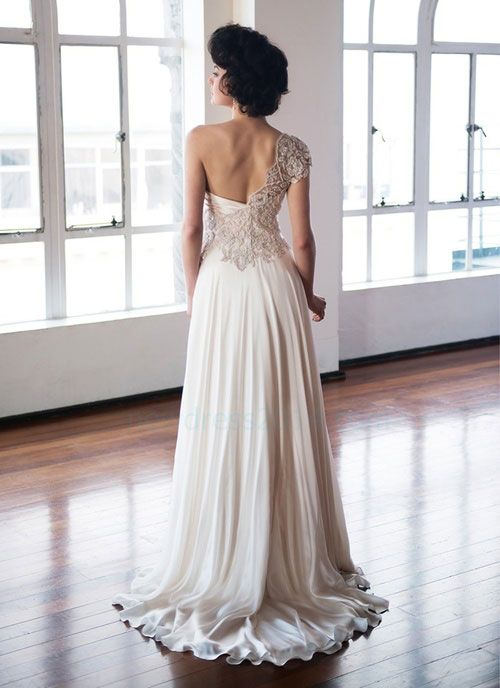 wedding dress wedding dress- see website for Beading Draping Ball Gown Chapel Train Embroidery Pleated Wedding Dress