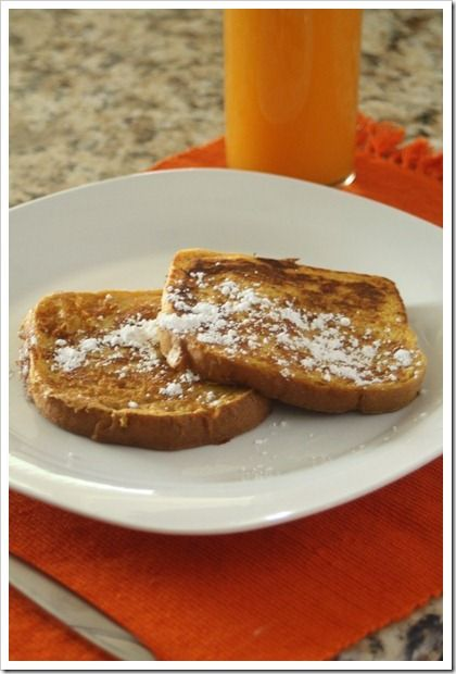 Pumpkin pie french toast | Recipes I love | Pinterest