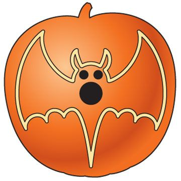 HALLOWEEN PUMPKIN WITH BAT CLIP ART | CLIP ART - HALLOWEEN - CLIPART ...