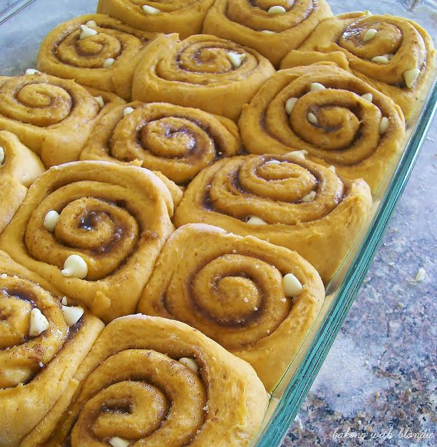 ... Chocolate Pumpkin Cinnamon Rolls with Maple Cream Cheese Frosting