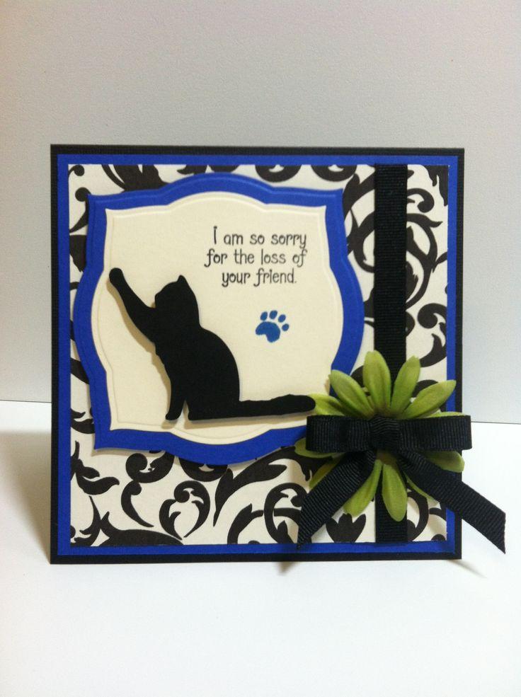 Cat Sympathy Card Cricut Fun Pinterest