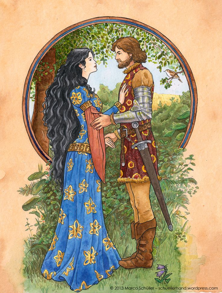 Beren and Luthien - Colours by ~Fumettisto on deviantART