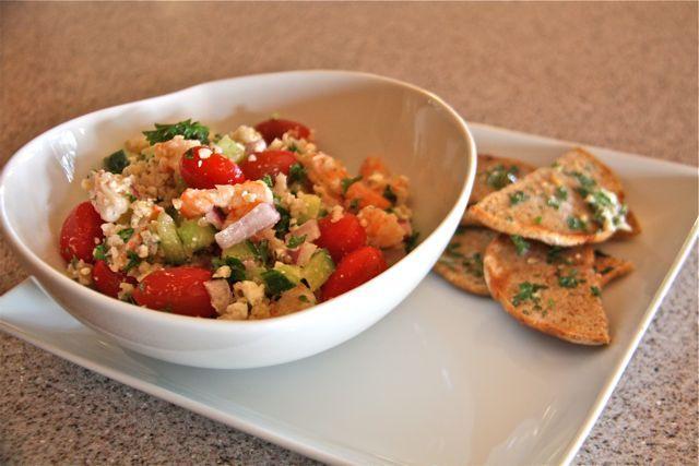 Shrimp, Cucumber, Feta salad | Salads | Pinterest