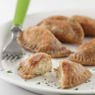 ... and sauerkraut makes a flavorful filling in these yummy pierogi