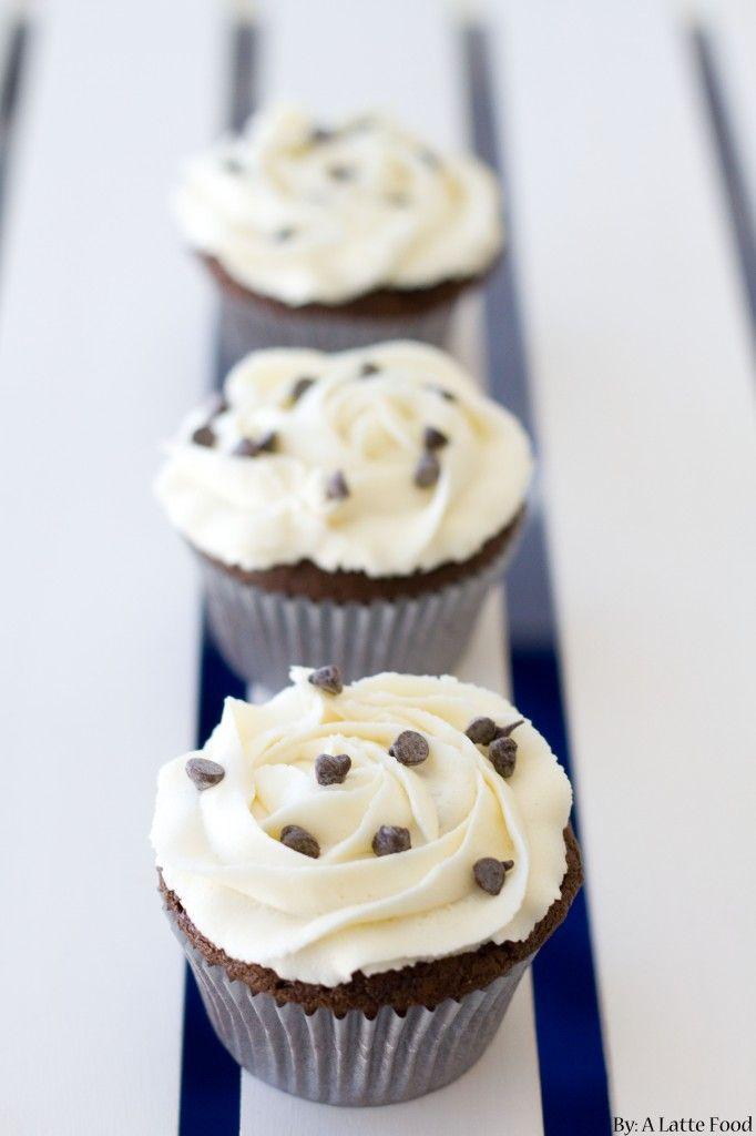 Oreo Truffle Stuffed Chocolate Cupcakes | Recipe