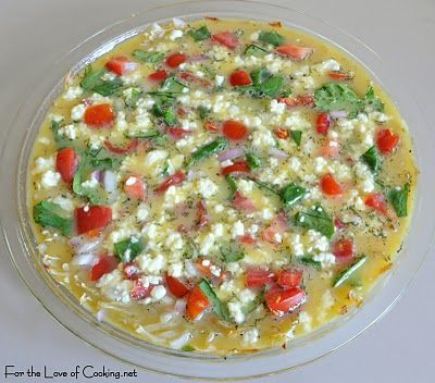 ... » Tomato, Spinach, and Dill Quiche with a Shredded Potato Crust