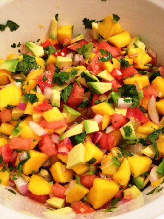 Avocado and Mango Salsa | Tastes Like Summer | Pinterest