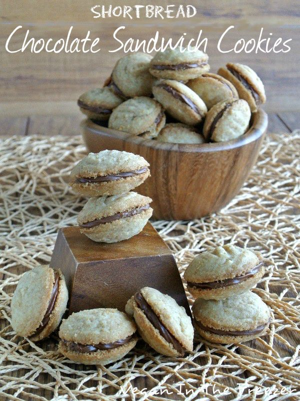 Shortbread Chocolate Sandwich Cookies are soft crumbly melt in your ...