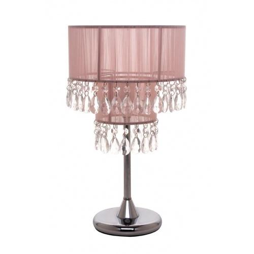 pink string crystal table lamp pretty kids bedroom ideas. Black Bedroom Furniture Sets. Home Design Ideas