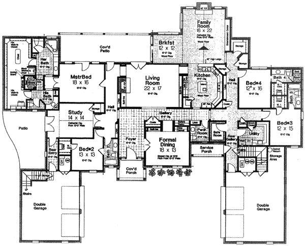Luxury European House Plans Home Designs Floor