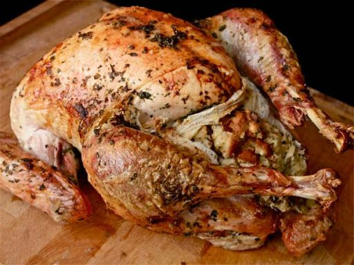 Easy Herb-Rubbed Roast Turkey With Stuffing and Giblet Gravy Recipe on ...