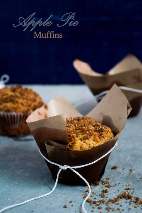 Apple Pie Muffins. I have some sketchy apples to use up. But I don't ...