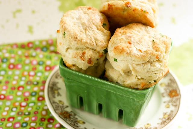 Cheddar Green Onion Biscuits - they are soft and fluffy, and the added ...
