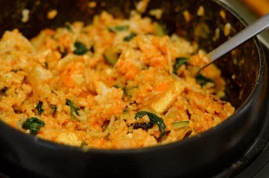 Vegetarian Korean Dolsot Bibimbap Recipe — Dishmaps