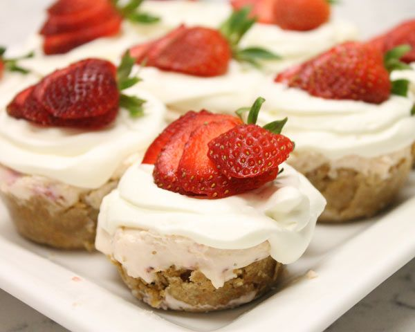 Mini No-Bake Strawberry Cheesecakes | Recipe