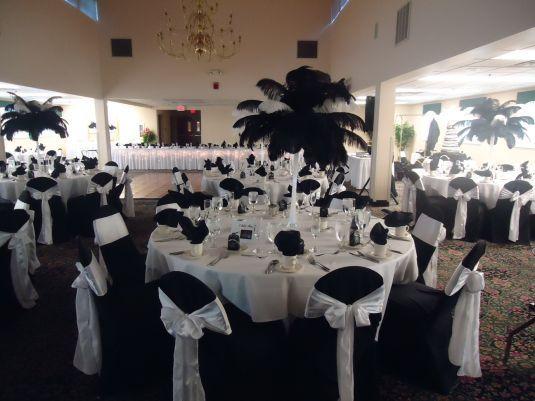 Wedding Reception Decor Black And White : Black and white wedding reception board