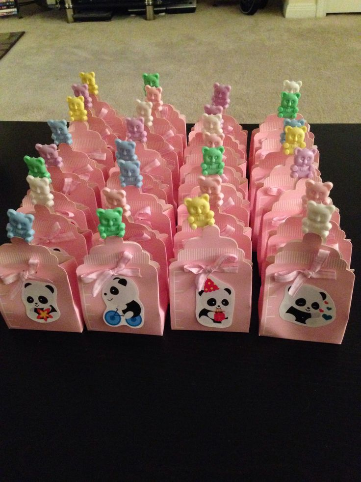 panda baby shower favor boxes panda themed baby shower ideas