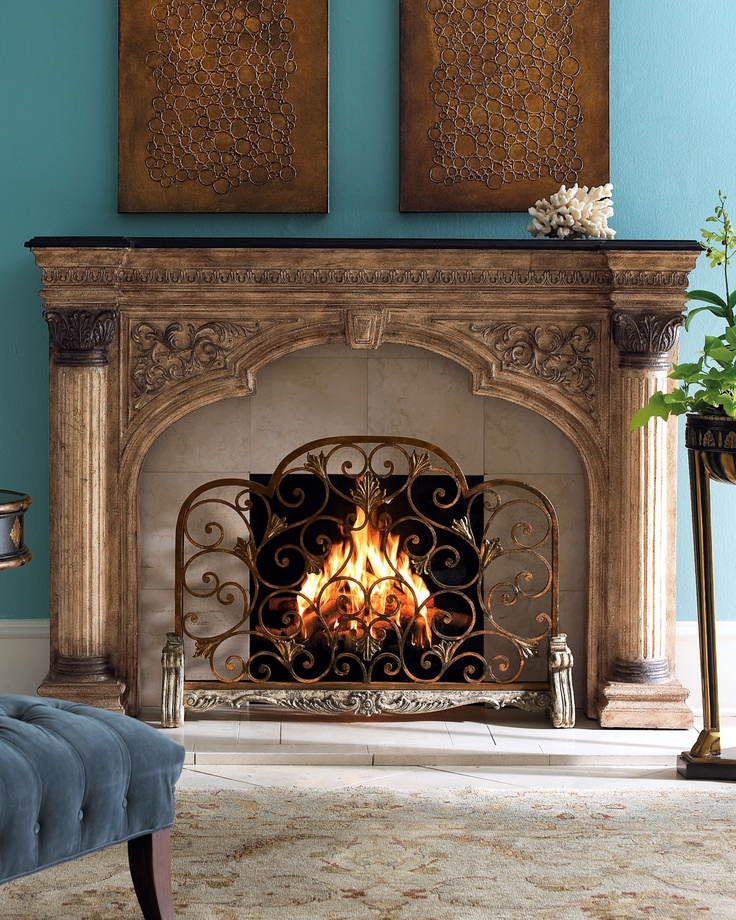 Arched Fireplace Screen Neiman Marcus Id Fireplaces Pinterest