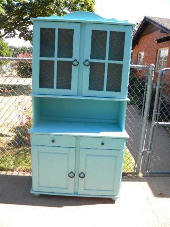 Light Turquoise French Hutch Kitchen Pinterest
