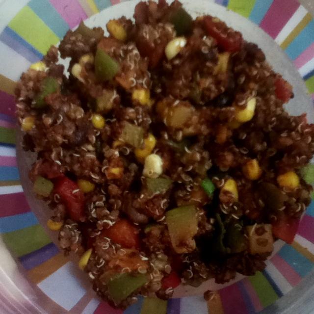 Zucchini And Corn Taco Seasoned Quinoa Salad Recipe — Dishmaps
