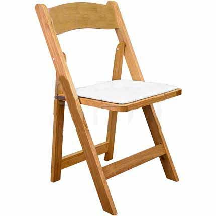 Natural Wood Padded Folding Chair Wedding Rental Items Pinterest