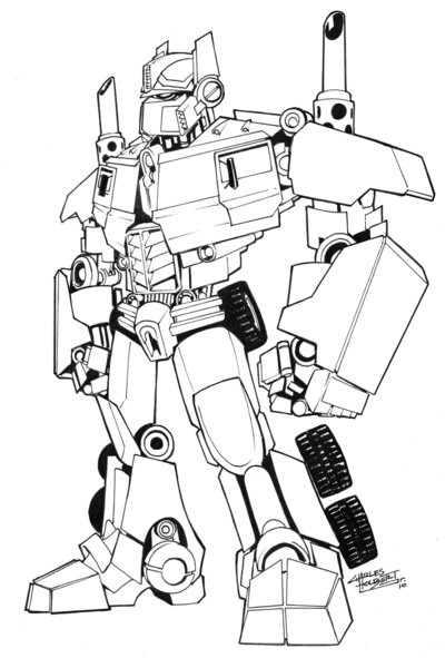 Optimus Prime Lego Coloring Pages