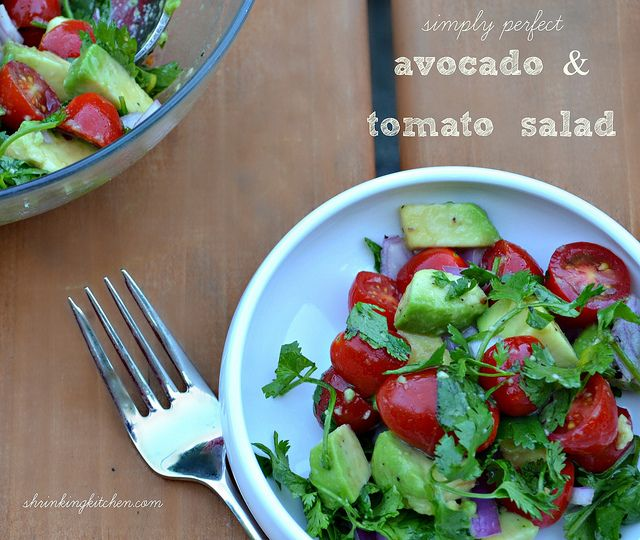 the star in this summer salad. Simply Perfect Avocado and Tomato Salad ...