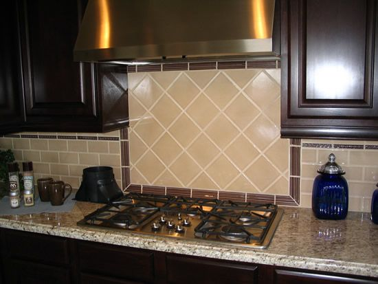 kitchen backsplash tile with large diagonal shape modern kitchen