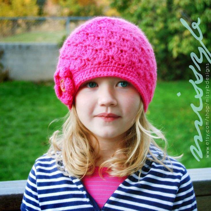 crochet shell hat